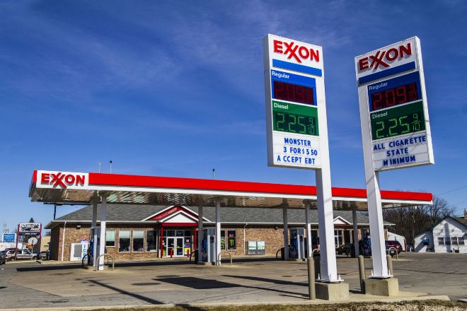 Gasolinera de Exxon.