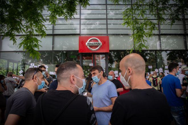 Imagen de las manifestaciones de Nissan