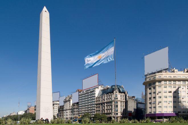 Obelisco en Buenos Aires (Argentina).