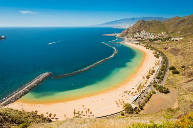Playa de Las Teresitas, en Santa Cruz de Tenerife.