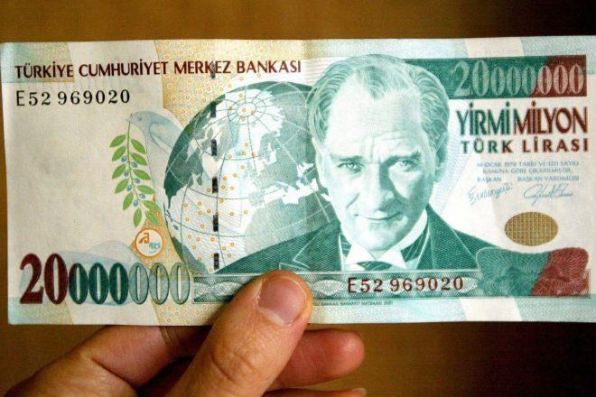 BIllete de liras turcas