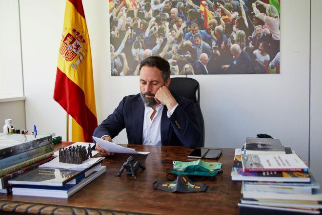 El presidente de Vox Santiago Abascal.