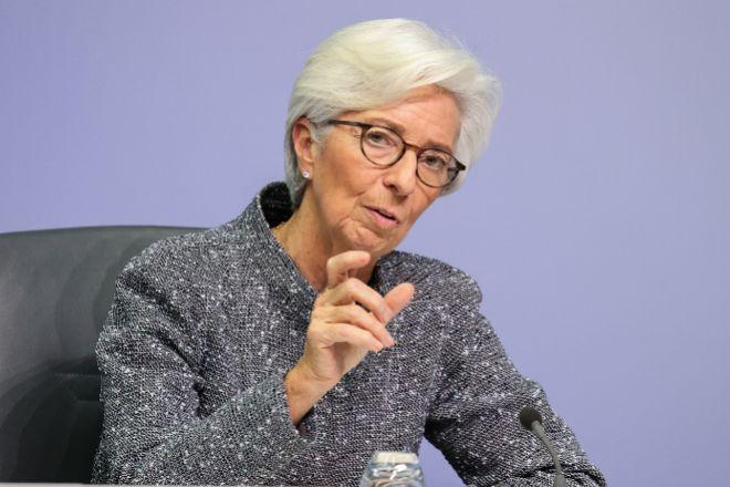 La presidenta del BCE Christine Lagarde.
