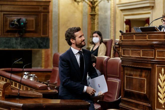 El presidente del Partido Popular Pablo Casado.