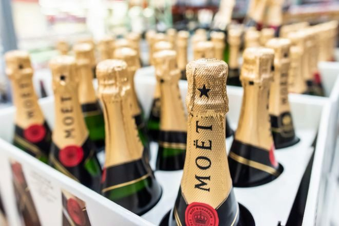 Moët & Chandon es una de las marcas conjuntas.