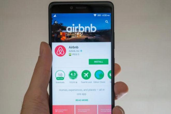 Aplicación de Airbnb.