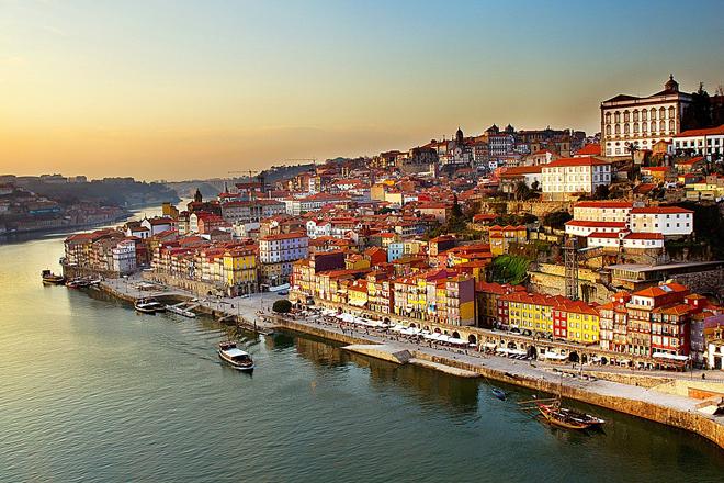 Vista aérea de Oporto.