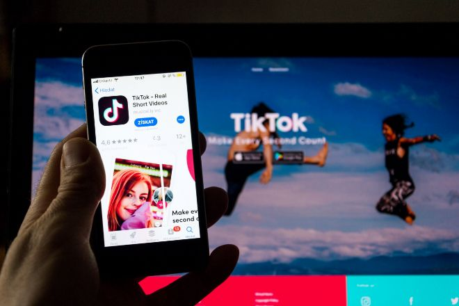 Aplicación móvil de TikTok.