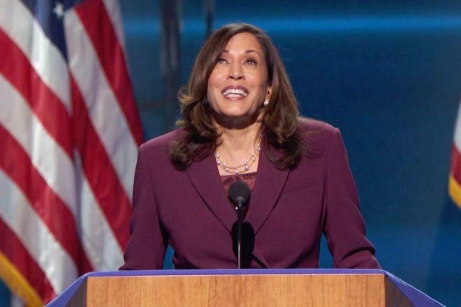 Fotograma de la convención nacional demócrata emitida online desde Milwaukee, Wisconsin, en la que se ha confirmado a Kamala Harris como candidata a la vicepresidencia del Gobierno Federal de Estados Unidos.