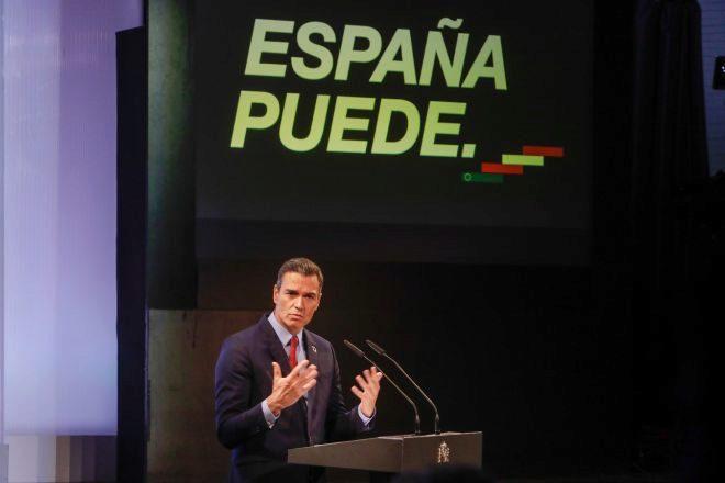 El presidente del Gobierno, Pedro Sánchez, hoy en la Casa de América...