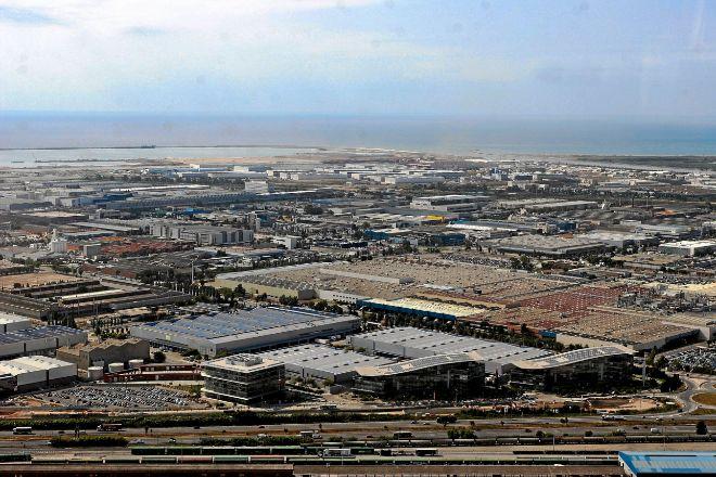 Vista aérea de la planta de Nissan y de sus alrededores en la Zona...