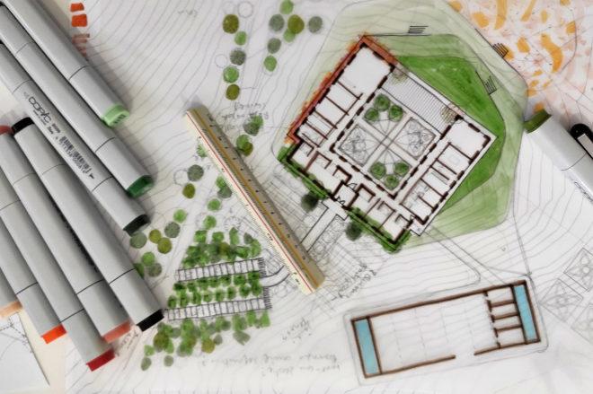 Plano de trabajo de Hacienda Llanos del Espino en Grazalema, Cádiz.