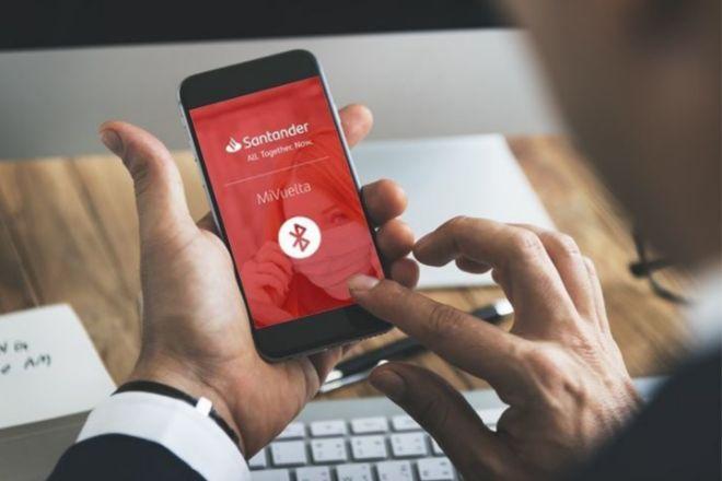 App móvil de Santander.