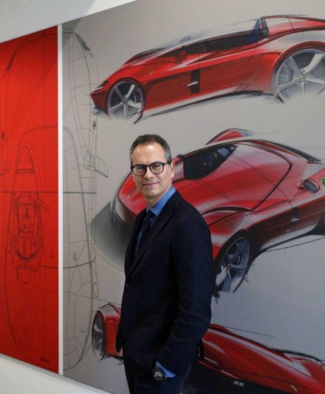 Manzoni, 54 años, en el Centro Stile de Ferrari, en Maranello.