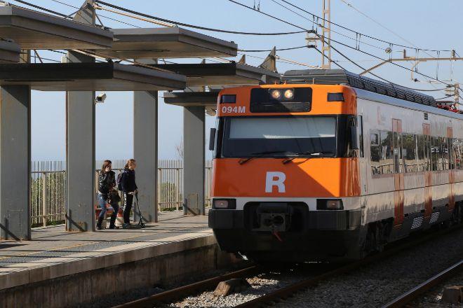 Estación de Cercanías de Premià de Mar, en la comarca del Maresme.