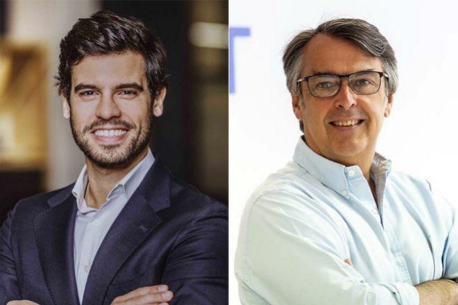 Miguel Costa Freire, director general de Raisin España (dcha) y Antonio Botas, CEO de Finect (izqda).