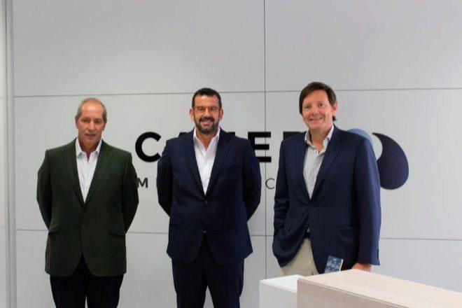 De izquierda a derecha, Javier Rotllant, Francisco Martos y Salvador Arsuaga.