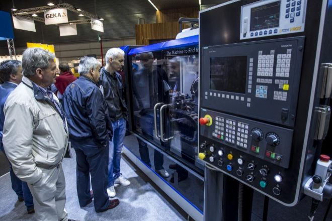 Imagen de una edición anterior de la feria de máquina-herramienta, en el BEC de Barakaldo.