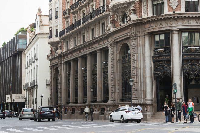 Seded de Caixabank y Bankia, en Valencia.