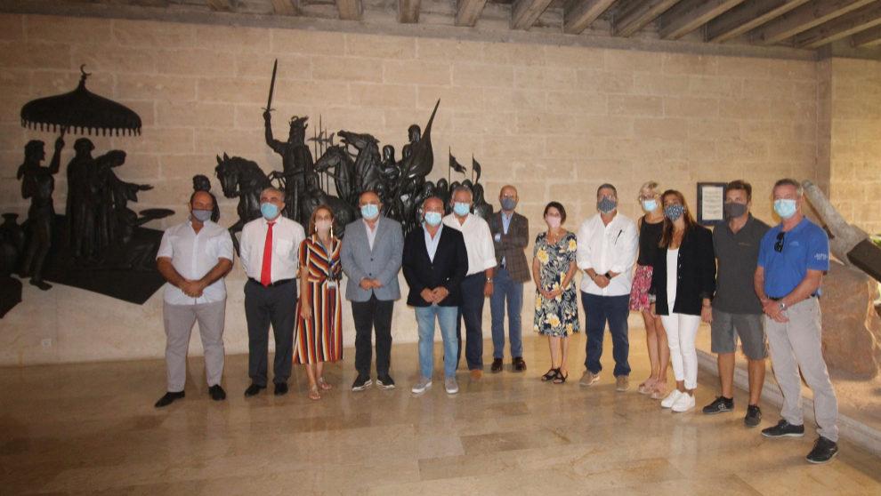 Los promotores del Balearic Yach Show, durante la presentación del...
