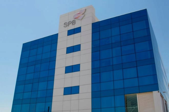 Fachada de las instalaciones de SPB en Cheste (Valencia).
