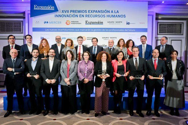 Premiados y patrocinadores en la edición de los premios de 2019.