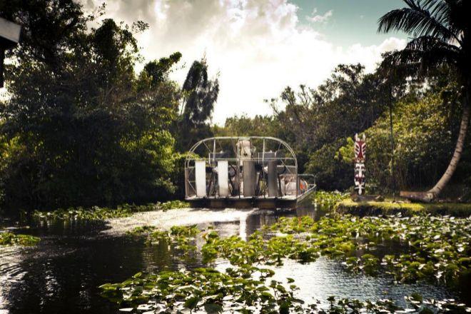 RUTA EN HIDRODESLIZADOR POR LOS HUMEDALES DE EVERGLADES, AL SUR DE FLORIDA (EEUU)