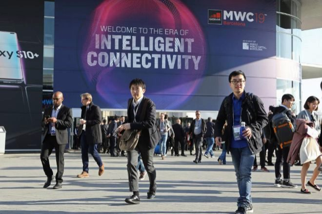 Entrada del Mobile World Congress.