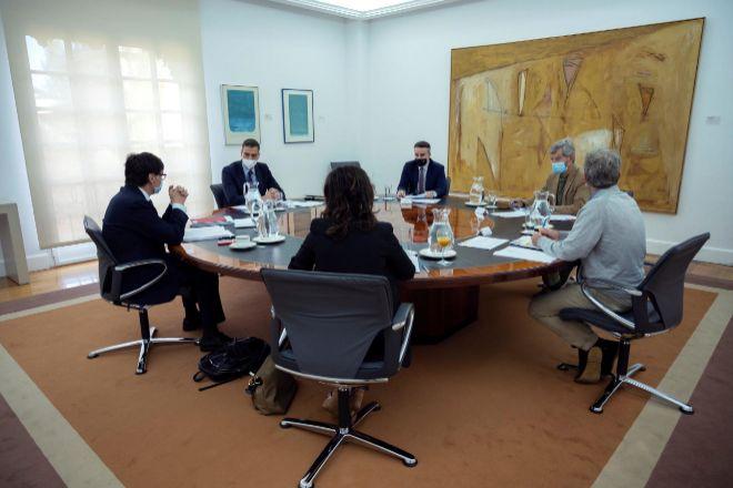 Illa hoy durante la reunión del Comité de Seguimiento del Coronavirus presidida por Pedro Sánchez.