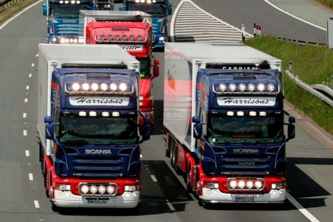 Camioneros británicos.