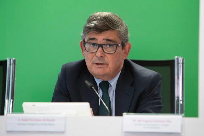 Ángel Rodríguez, consejero delegado de Unicaja Banco en la presentación de resultados de 2019.