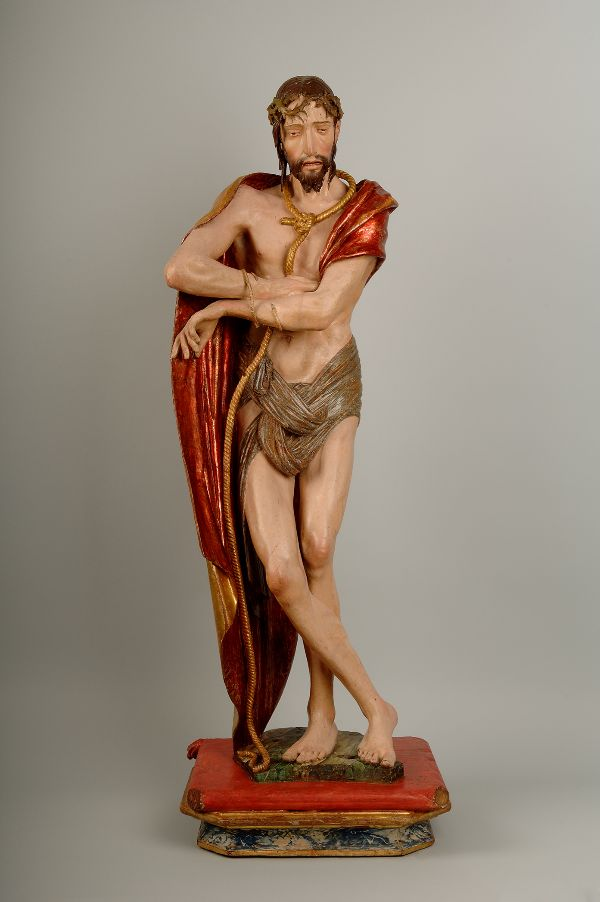 Ecce Homo originalmente ejecutado por Alonso Berruguete para una capilla del monasterio de Nuestra Señora de la Mejorada, en la provincia de Valladolid, hacia 1524. Madera policromada con dorado.