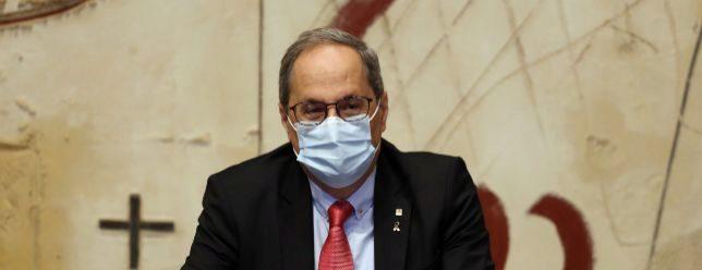 Quim Torra, presidiendo el pasado 8 de septiembre la reunión semanal del Ejecutivo catalán.