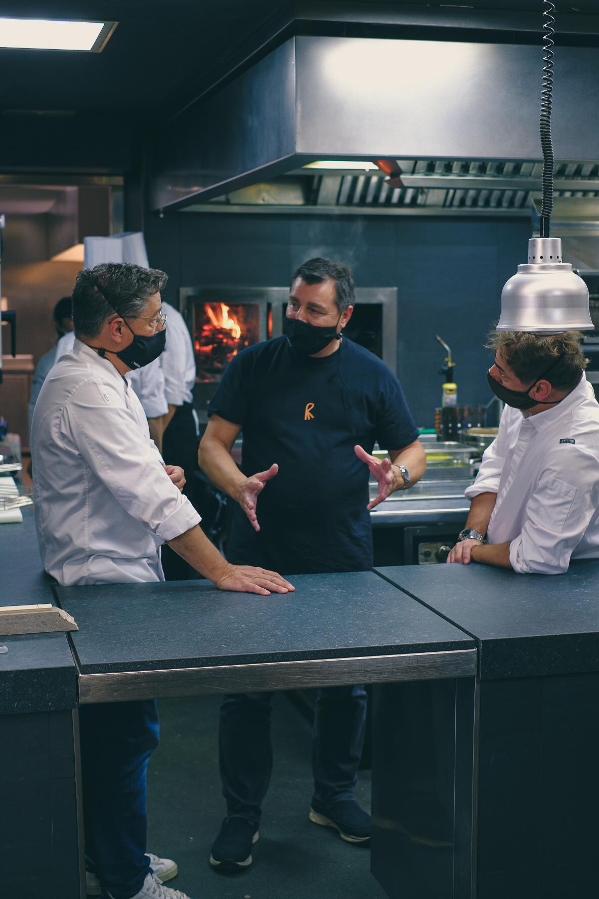 De izquierda a derecha, Joan, Josep y Jordi Roca.
