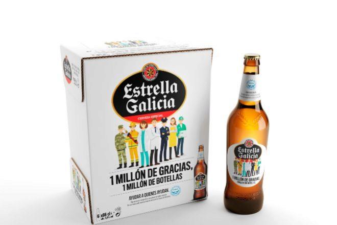Cerveza Estrella Galicia.