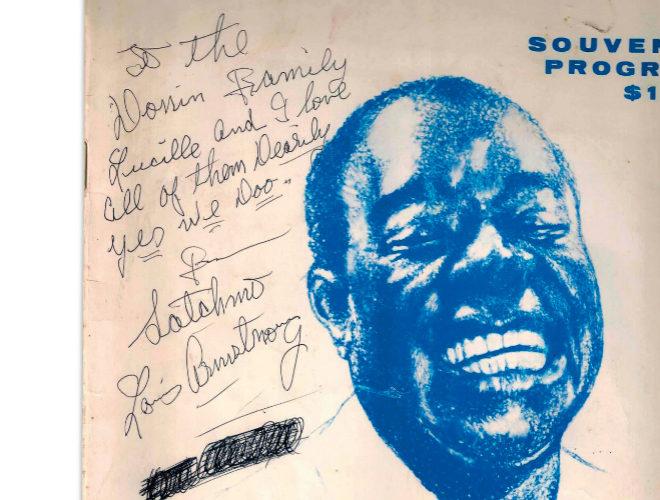 Autógrafo de Louis Armstrong para la familia Donin.
