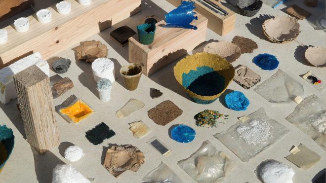 Diversas pruebas de transformación de materiales realizadas por el estudio de Andreu Carulla.