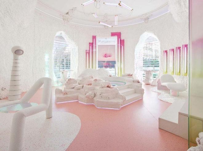 Metanoia, el spa creado por Bustos para Hansgrohe en Casa Decor 2020.
