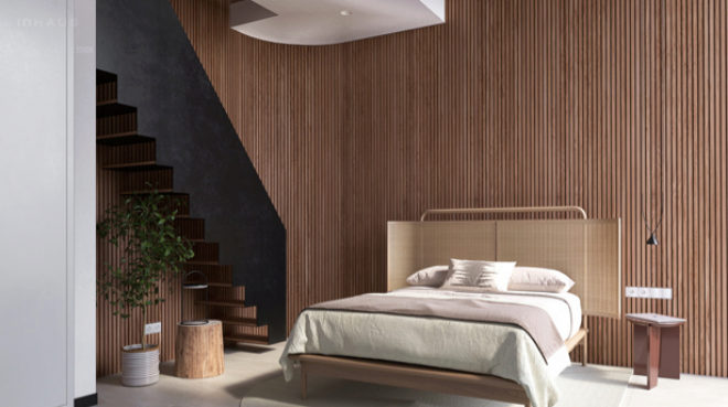 Dormitorio de la propuesta de Yonoh.