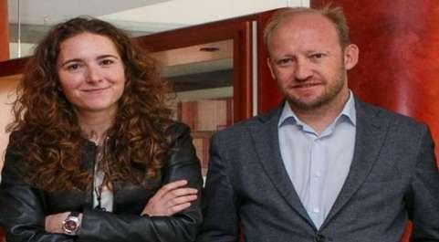 Los fundadores de AptaTargets, Maria Eurgenia Zaraboco y David...