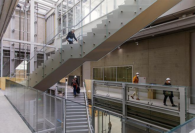 Interior del nuevo edificio, obra del estudio MVRDV. Aad Hoogendoorn.