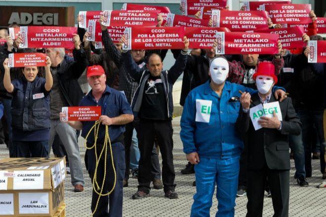 Imagen de archivo de una manifestación de los trabajadores del Metal en San Sebastián.