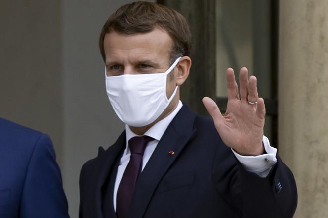 Emmanuel Macron, ayer en París.