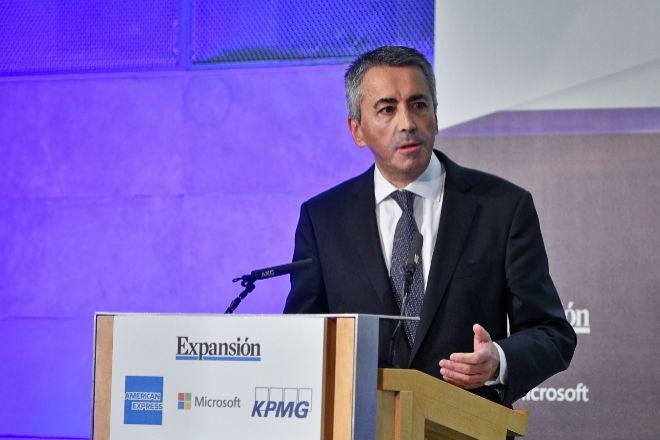 El director general de Seguros y Pensiones, Sergio Álvarez, durante su intervención en el XI Encuentro del Sector Financiero organizado por EXPANSIÓN y KPMG.