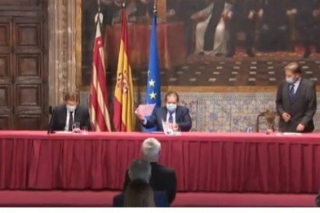 Acto de proclamación de los premios Jaime I, en el Palau de la Generalitat.