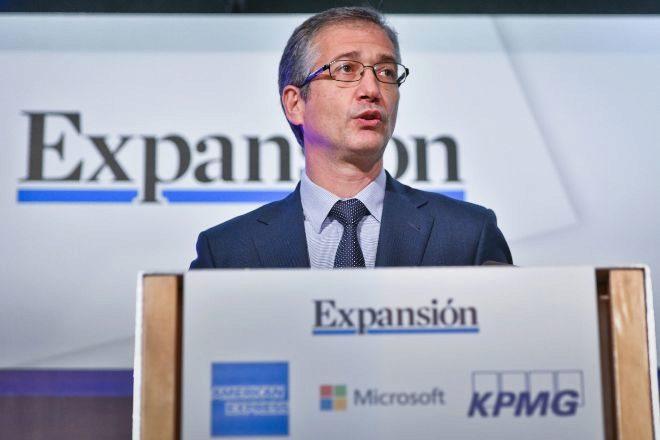 Pablo Hernández de Cos, gobernador del Banco de España, durante su intervención en el XI Encuentro del Sector Financiero organizado por EXPANSIÓN y KPMG.