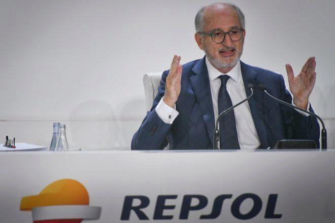 Antoni Brufau, presidente de Respol, durante la junta de accionistas de 2019.