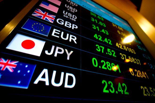 Panel con la cotización de las diferentes divisas.