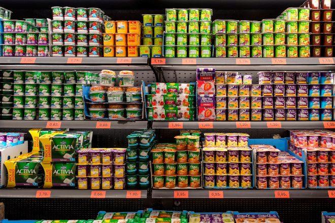 Estantería de un supermercado.