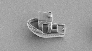 Imagen del barco, visto desde un microscopio electrónico....